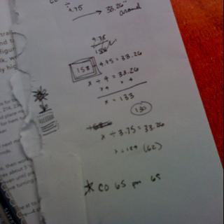 Math class flashback