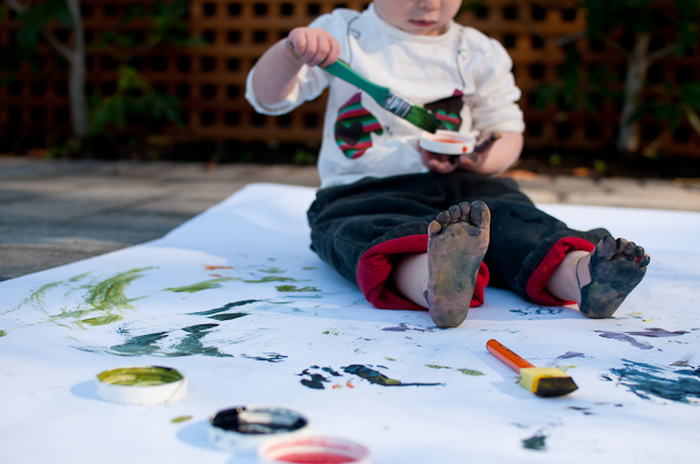 Painting with a toddler-4