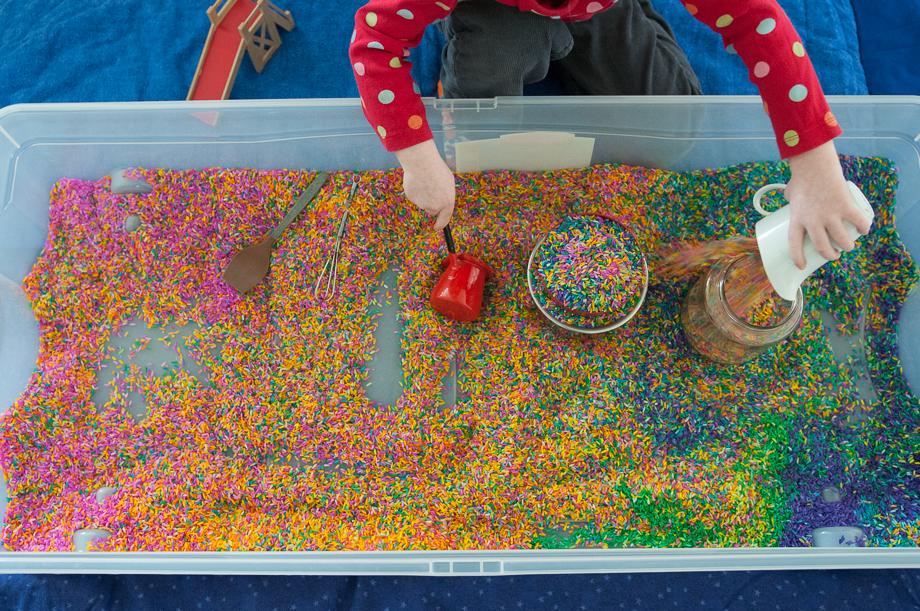 how to make rainbow rice