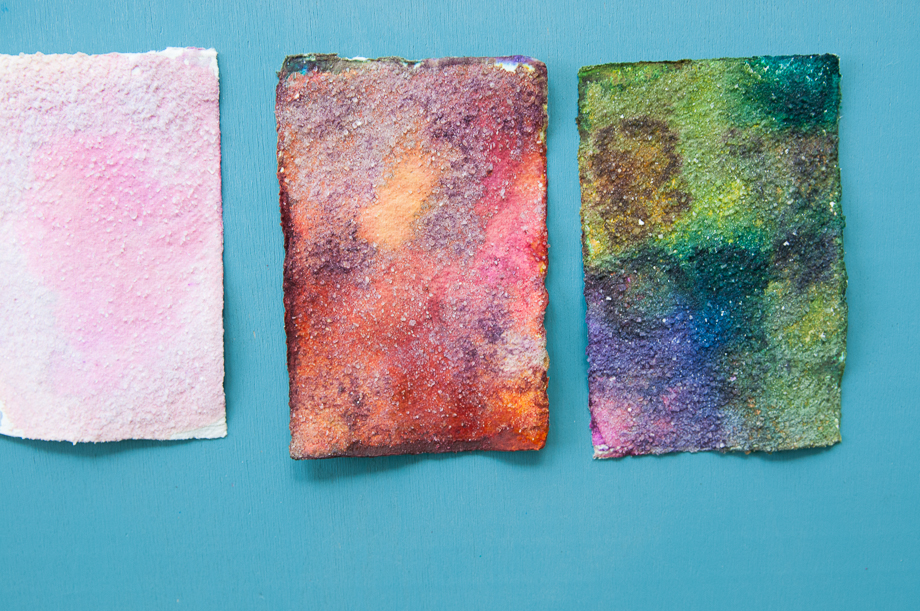 Painting with salt and water colors
