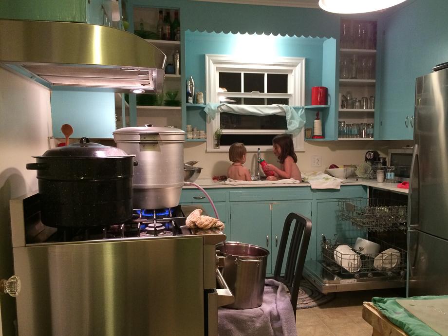 sept 25 kitchen mess 8-31-1